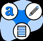 icone em vetor com lapis e folha