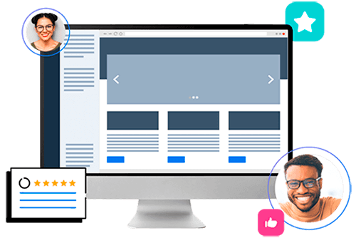 Vector de notebook com WordPress