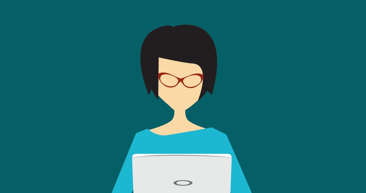 Uma profissional buscando viver da sua escrita para web