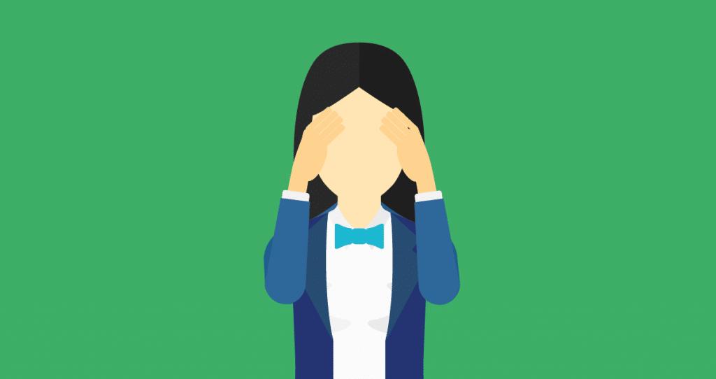 Uma pessoa repensando os hábitos que a fizeram falhar como produtor de conteúdo