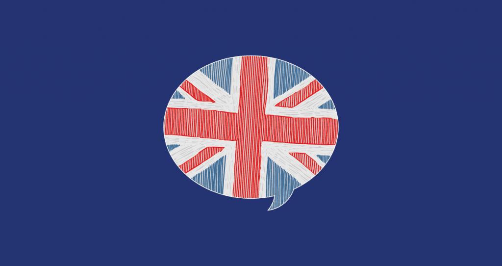 Bandeira do Reino Unido, um lugar perfeito para aprender inglês rapidamente.