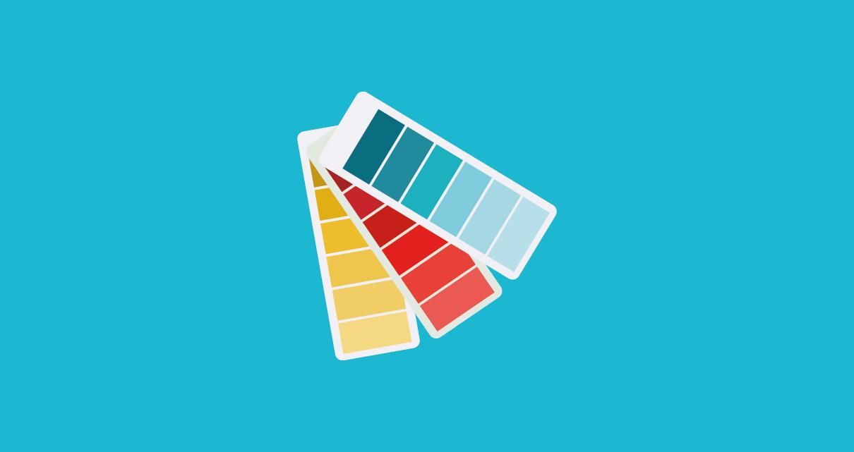 Uma paleta de cores para uma diagramação