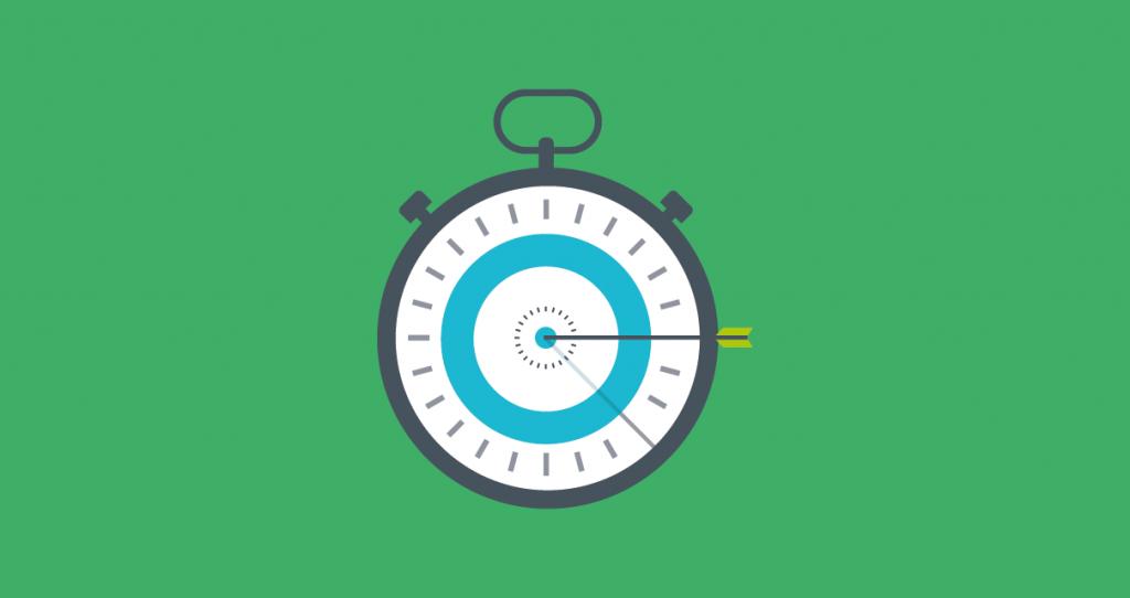 Um cronômetro, representando a Produtividade na Produção de Conteúdo