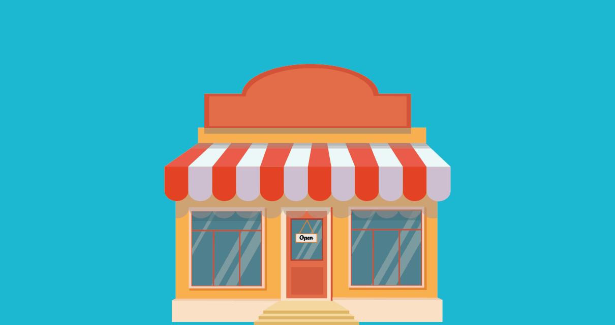 Uma loja sem nome, necessitando de maneiras criativas de encontrar um nome para negócios