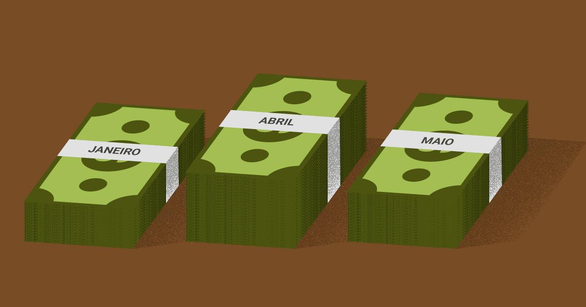como se organizar sem salário fixo