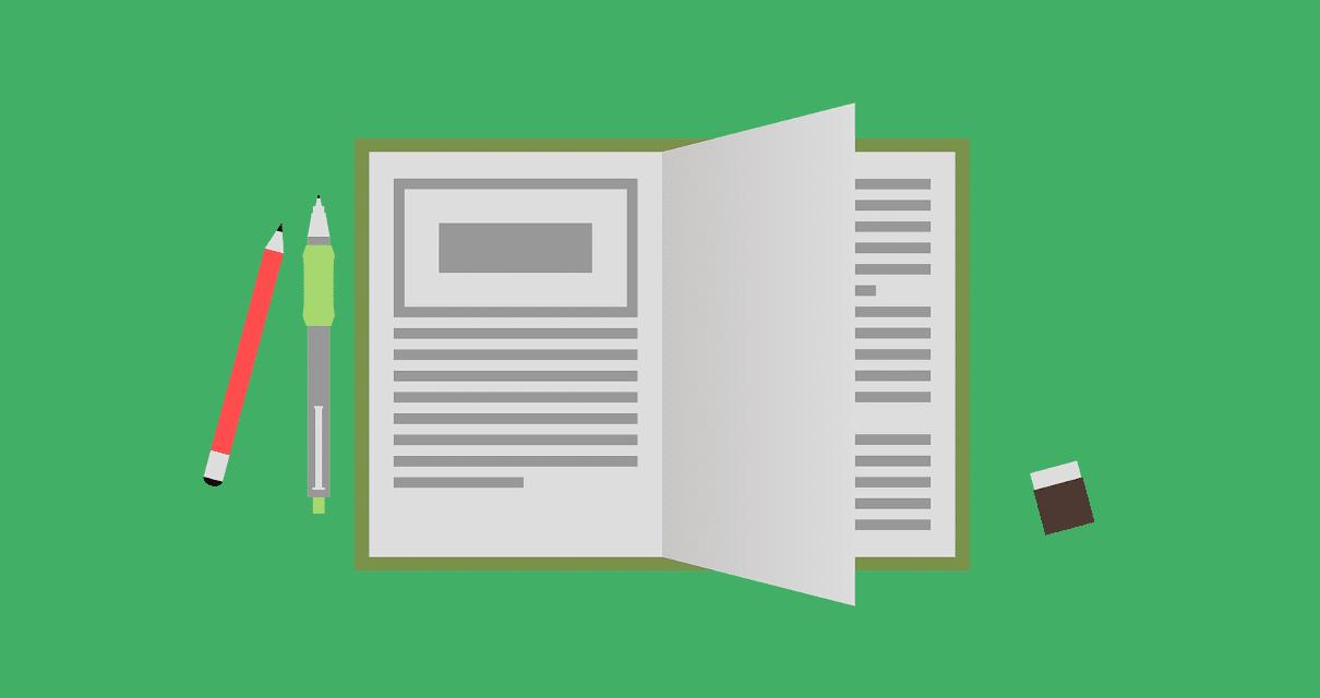 livro de anotações com adjetivos