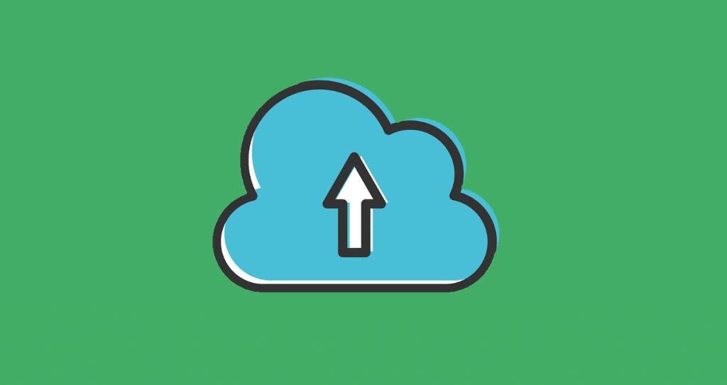 uma nuvem de download em bancos de imagem gratuitos