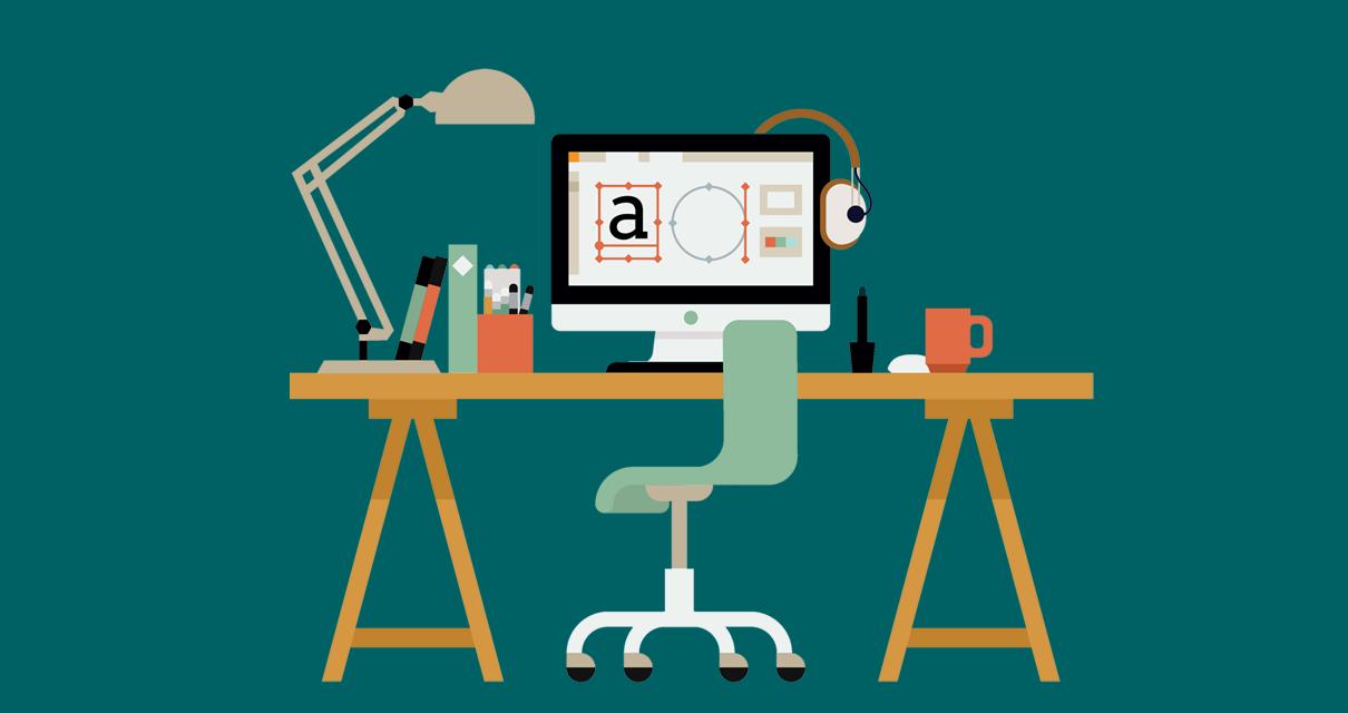 computador de um designer diagramando