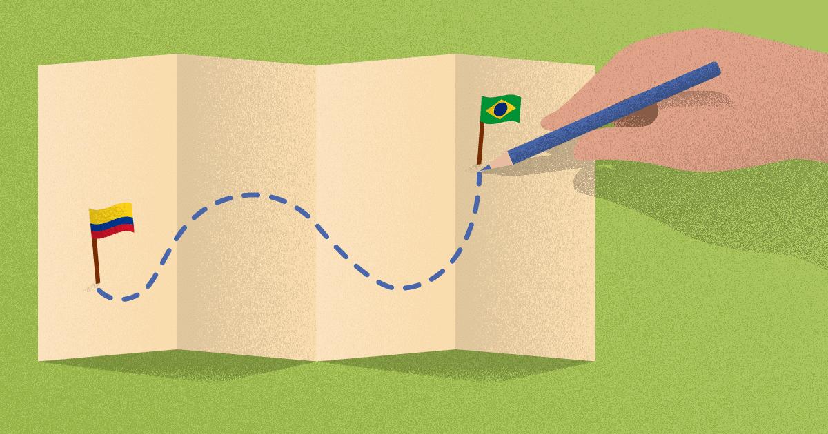 Da Colômbia para o Brasil