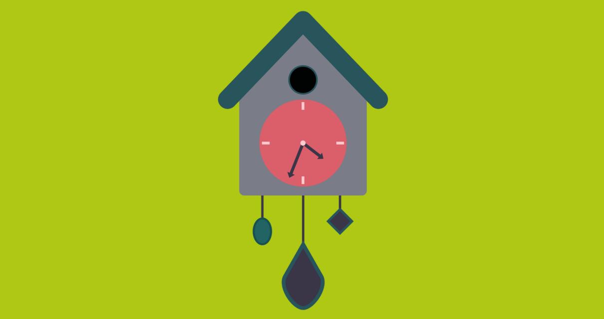 Um relógio marcando os horários mais produtivos para trabalhar