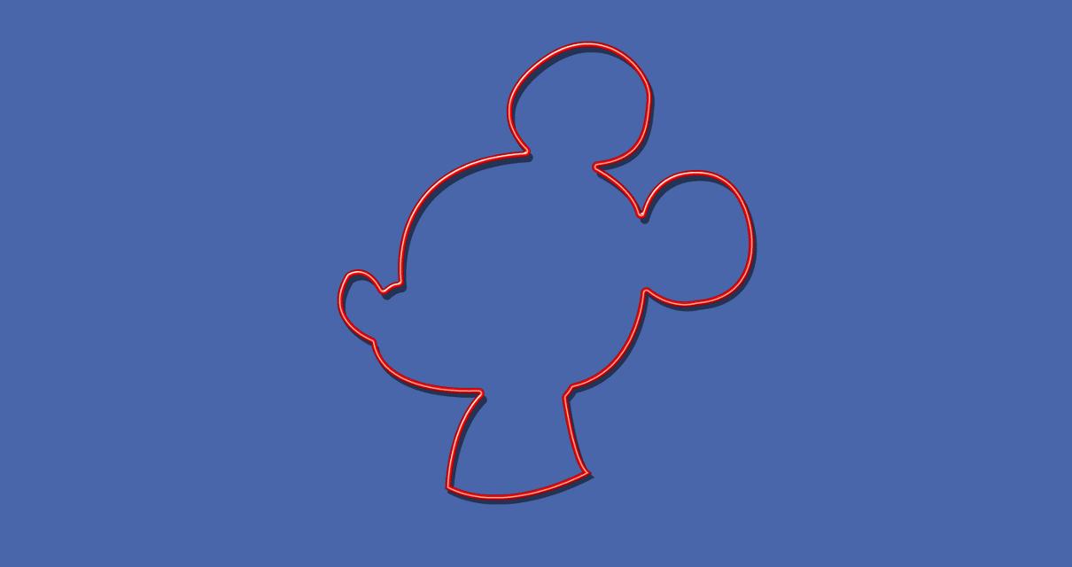 silhueta do mickey mouse
