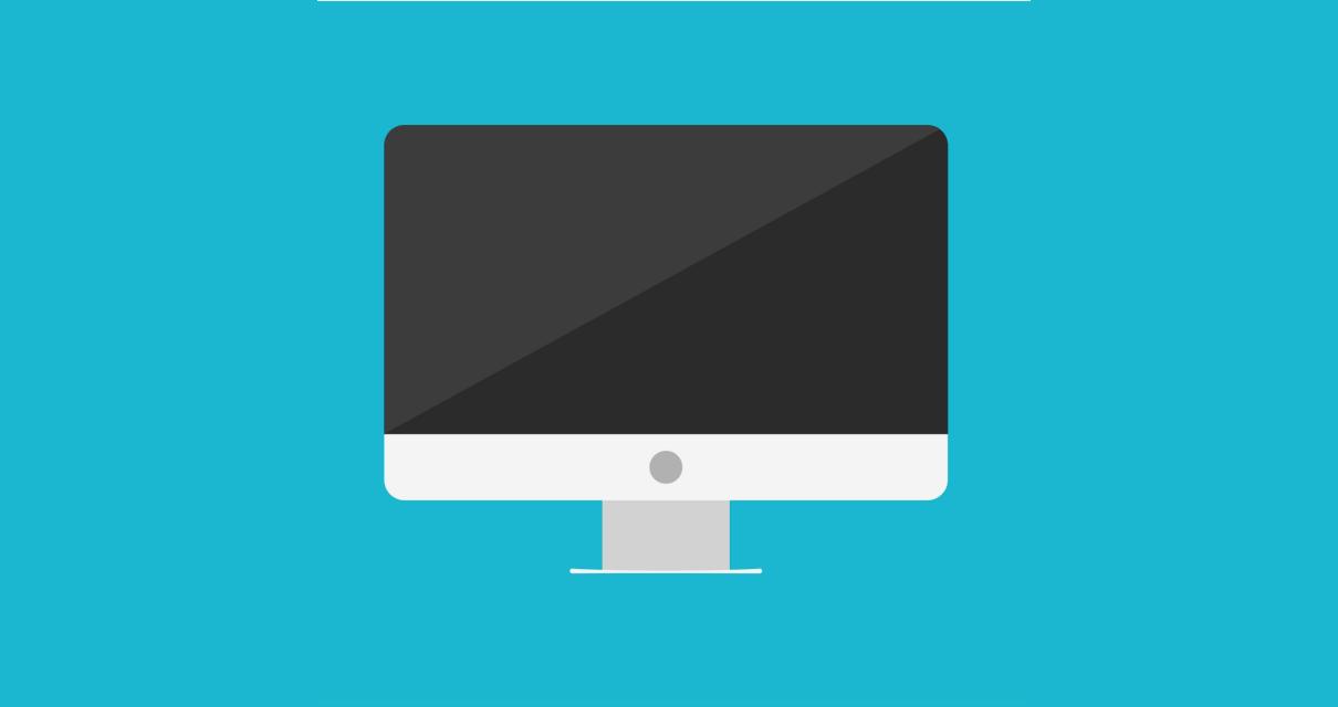 Um computador onde um web designer faz seus trabalhos