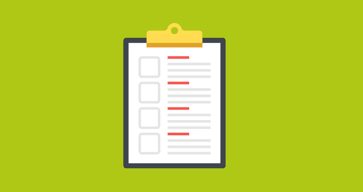 checklist de planejamento e controle