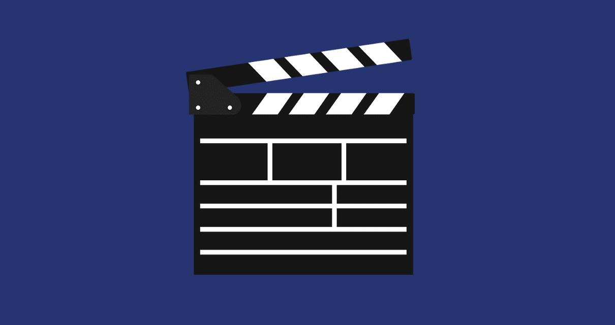 claquete simulando um roteiro para videoaulas