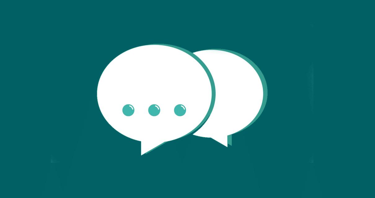 balões de conversa falando sobre substantivos