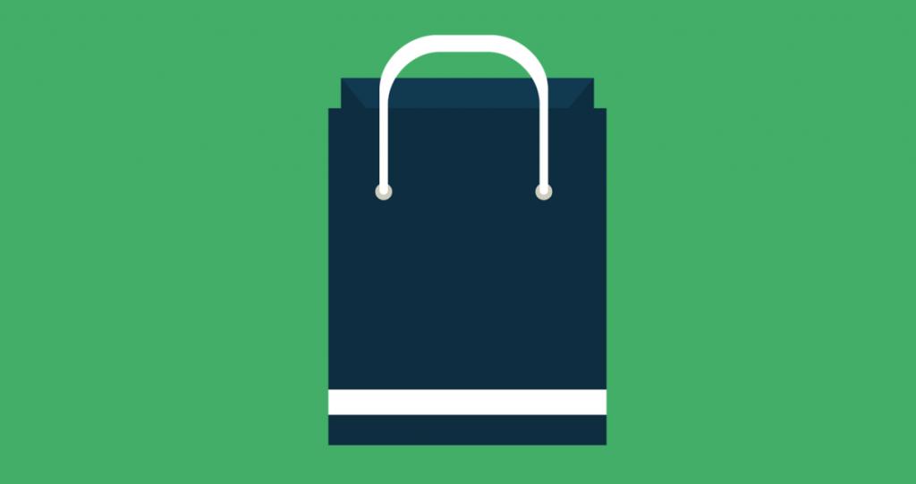uma bolsa de compras representando ecommerce