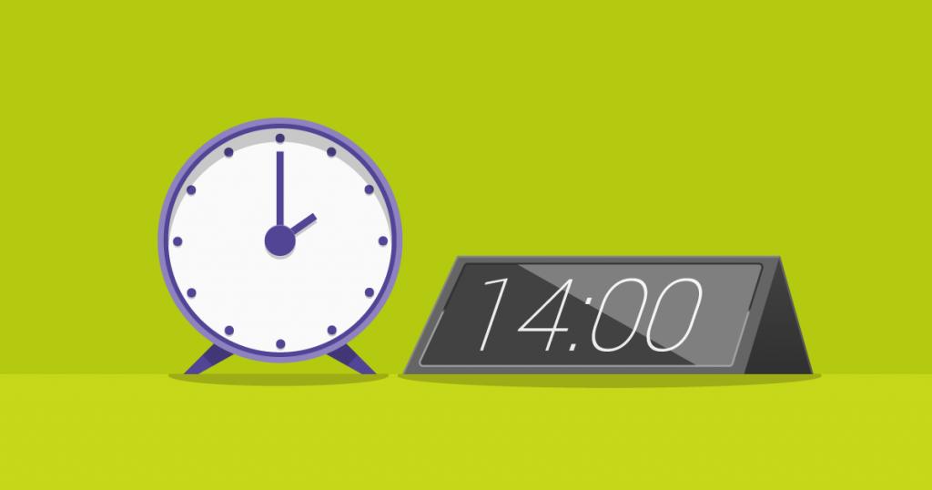 Um relógio que passou por uma transformação digital ou digital transformation