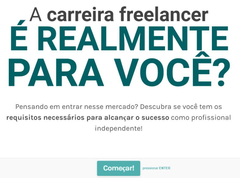capa quiz carreira de freelancer