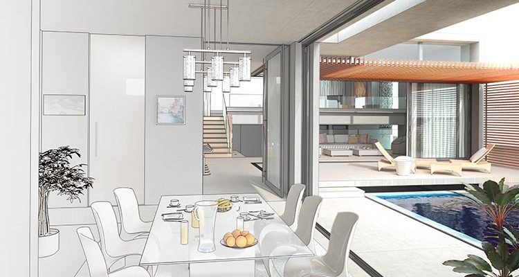 Diseño del interior de una casa