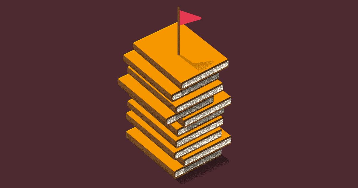 libros sobre liderazgo - una pila de libros