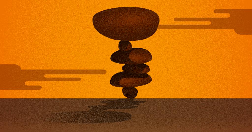 punto de equilibrio - varias piedras se equilibrando una en cima de la otra