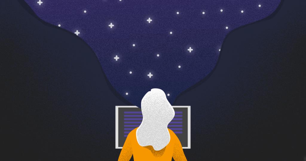 tipos de algoritmos - una persona mirando a un computador