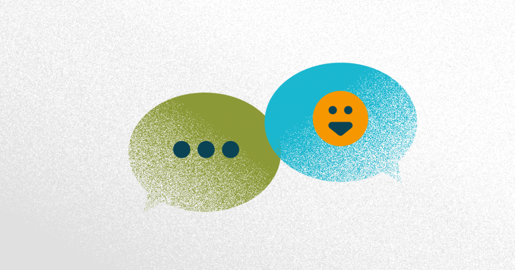 venta consultiva - dos globos de conversación