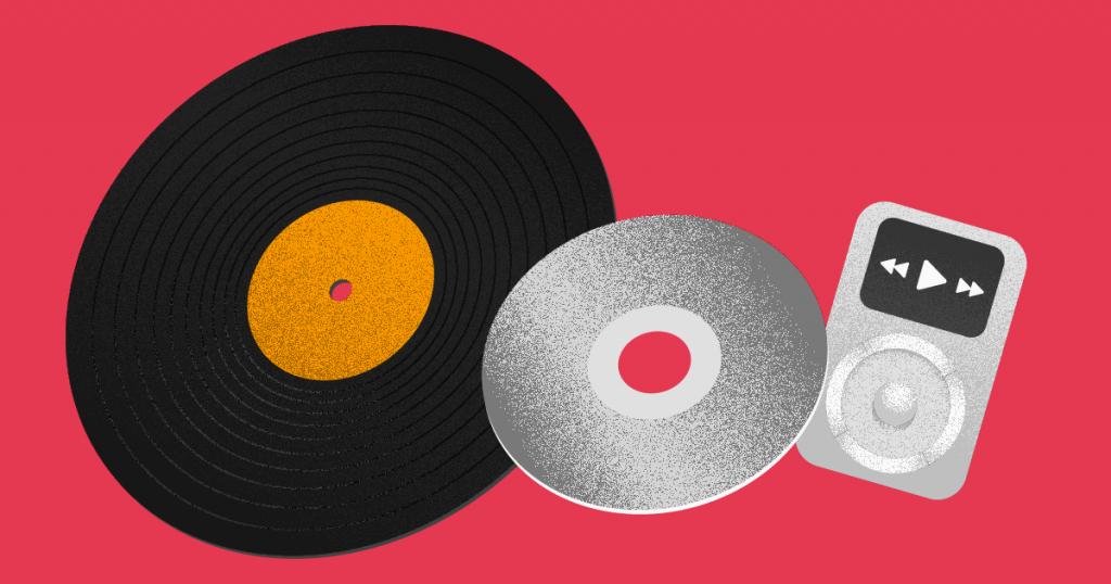 innovación disruptiva- discos y un ipod