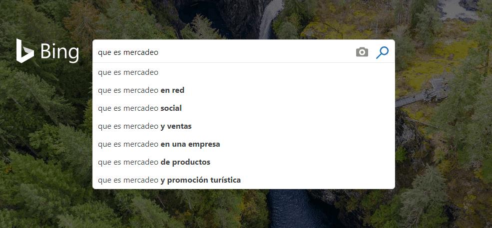 buscadores Bing
