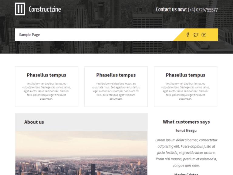 constructzine lite themes wordpress