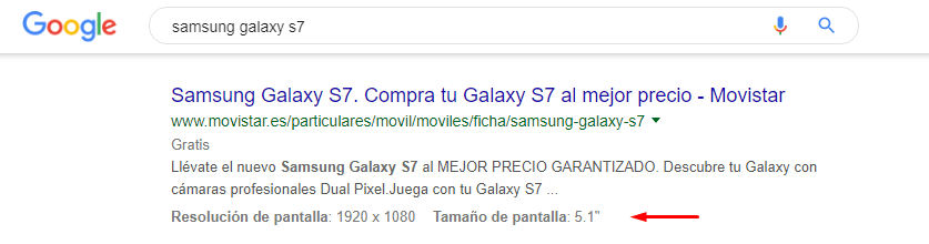 rich snippets producto