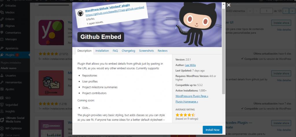 github plugin WP