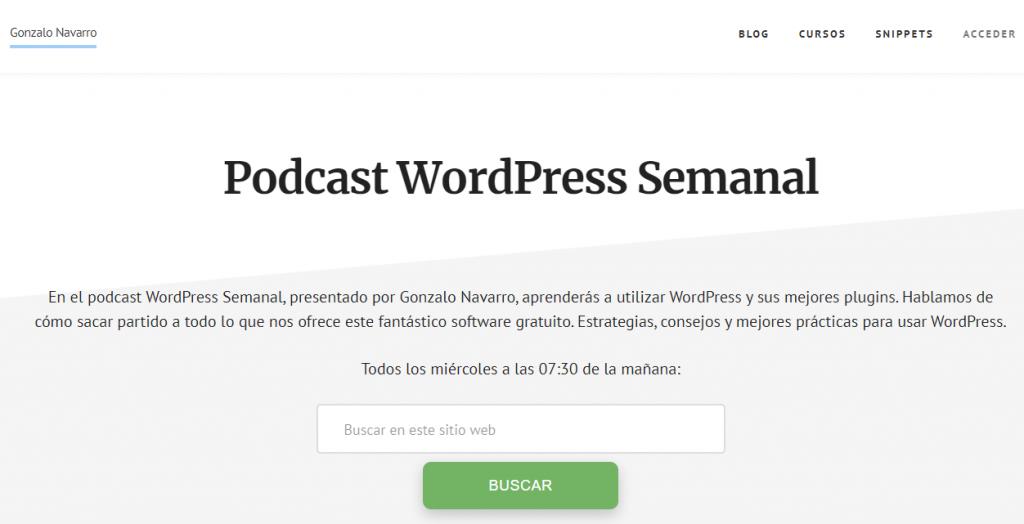 podcast wordpress semanal