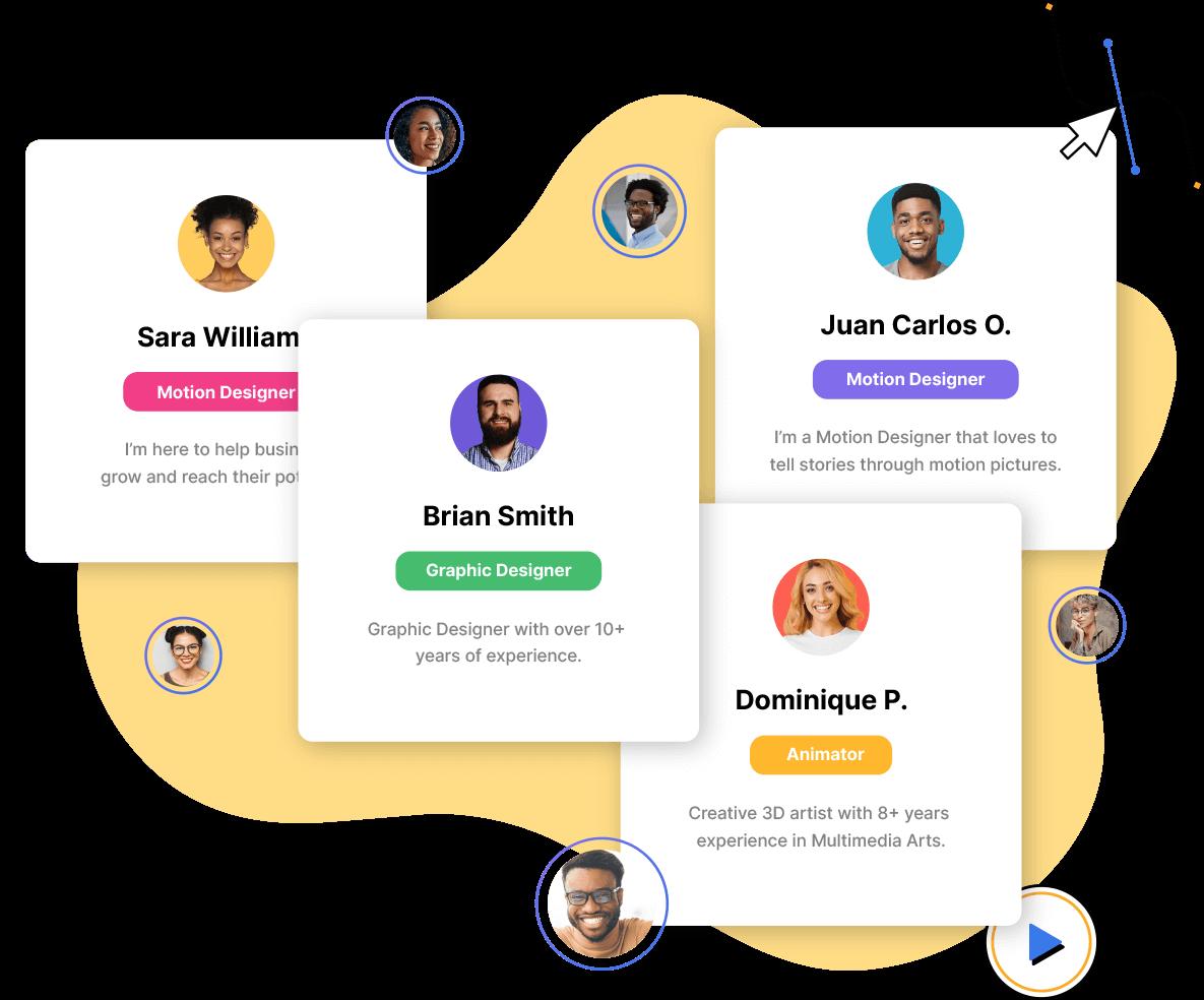 Imagen representa perfiles de creadores de contenidos