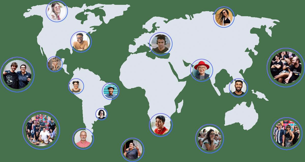 Map del mondo con Rockers