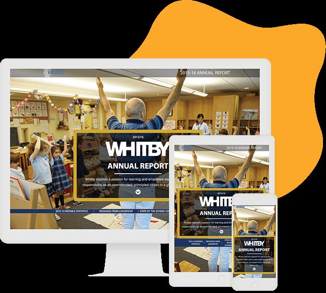 Una computadora de ejemplo whitby school