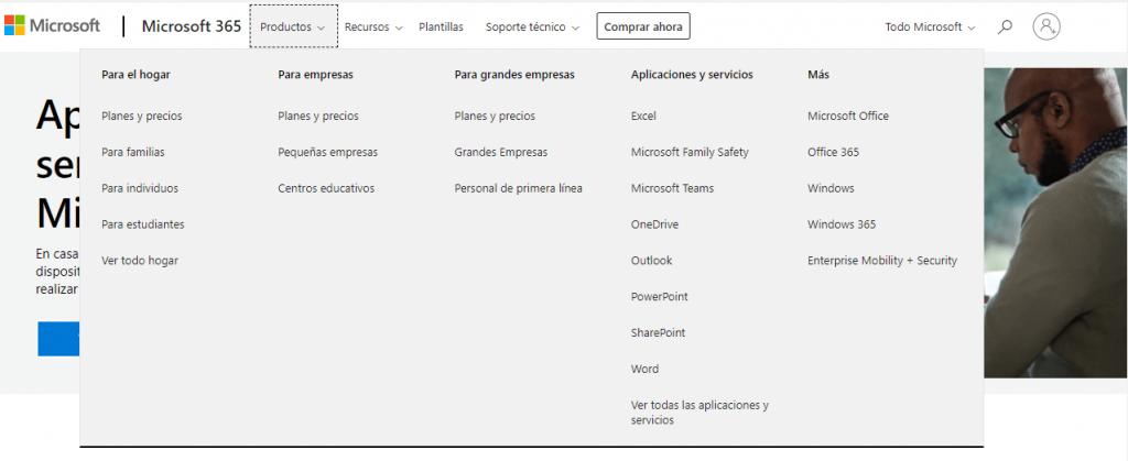 ejemplos de páginas web de grandes empresas