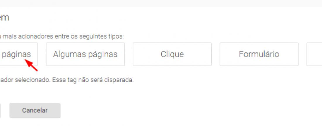 una tag con la marca de google tag manager