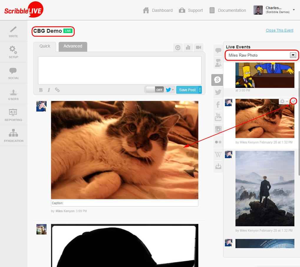 Raw feed screenshot 3