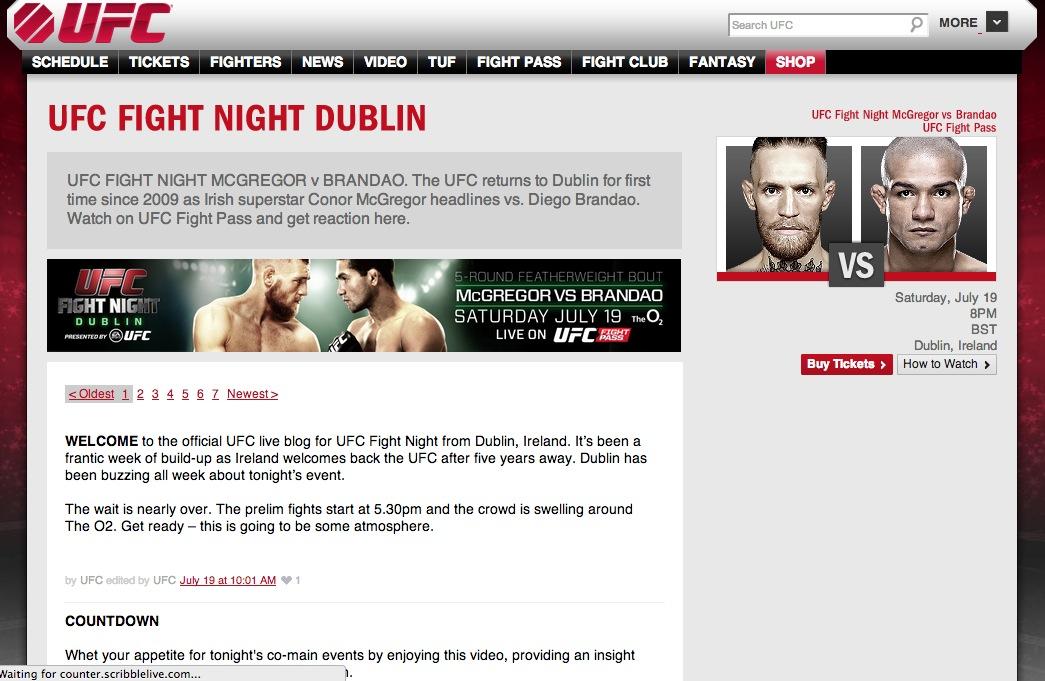 UFC Dublin