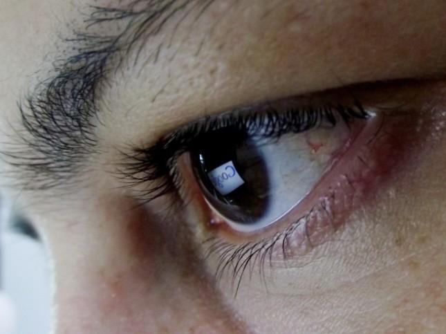 Closeup of a person's eye
