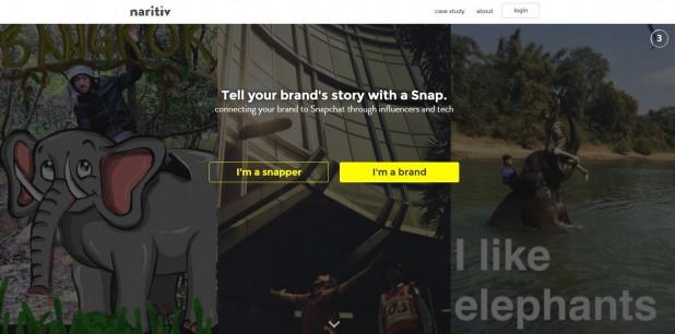 narativ website screengrab