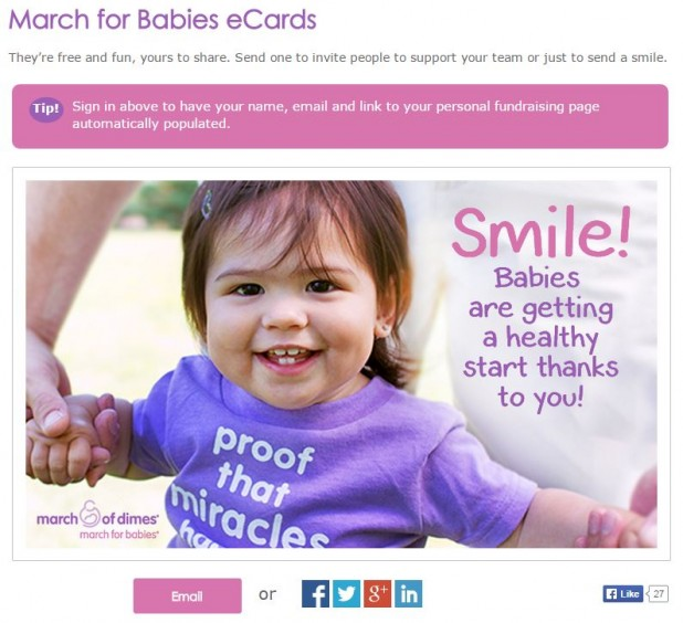 March Of Dimes ECards