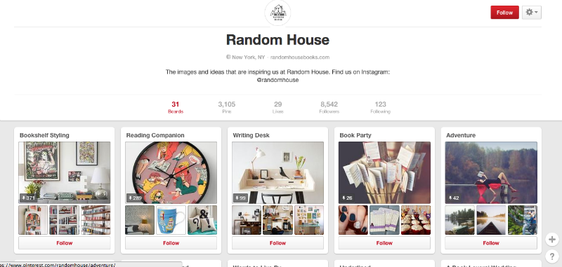Random House content curation example