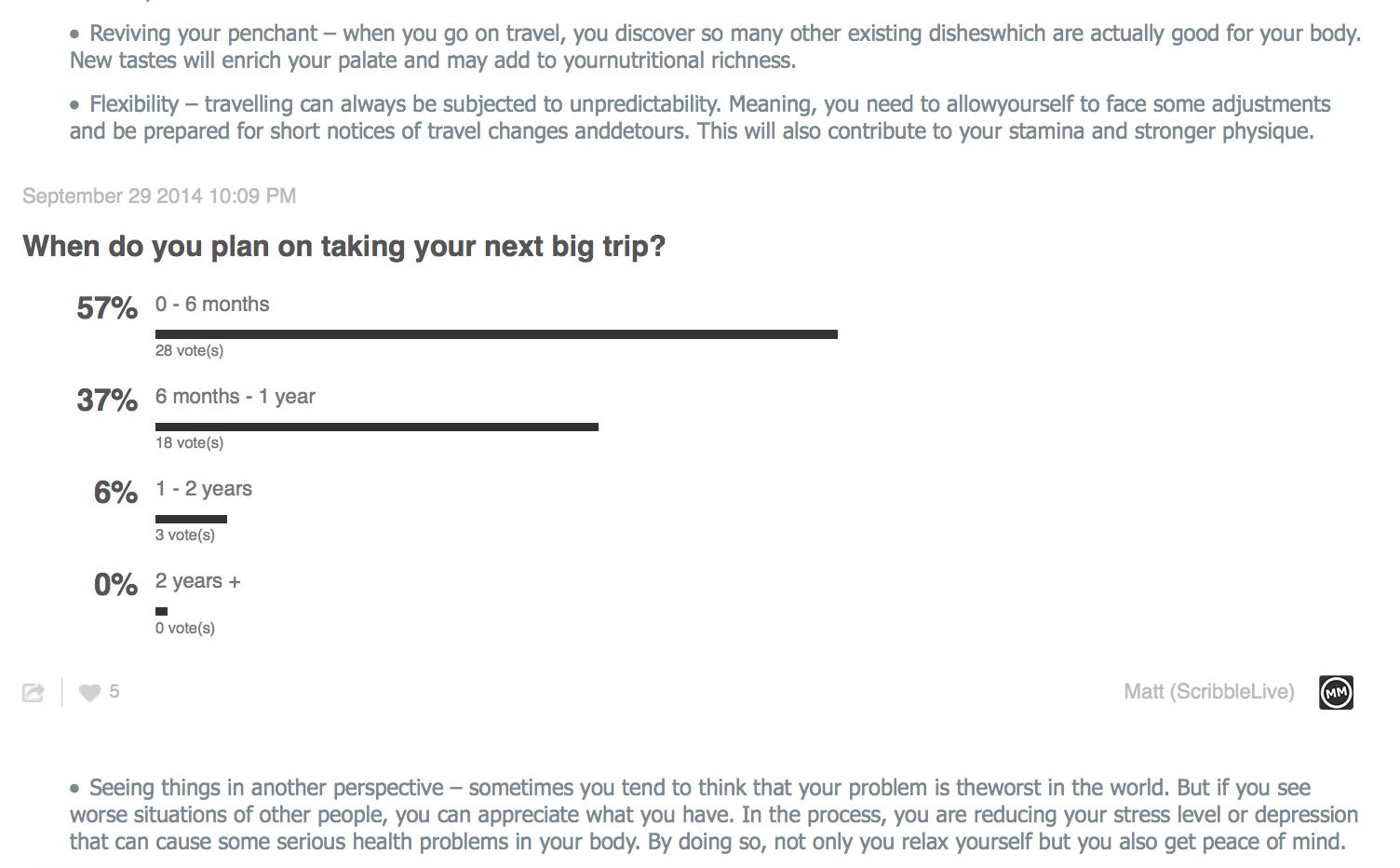 survey and polls for segmentation