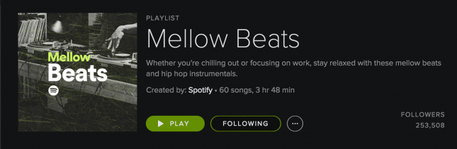 Spotify's curated content
