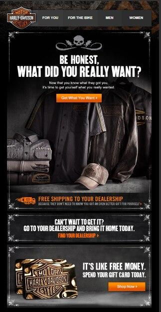 Harley-Davidson lookbook for holidays