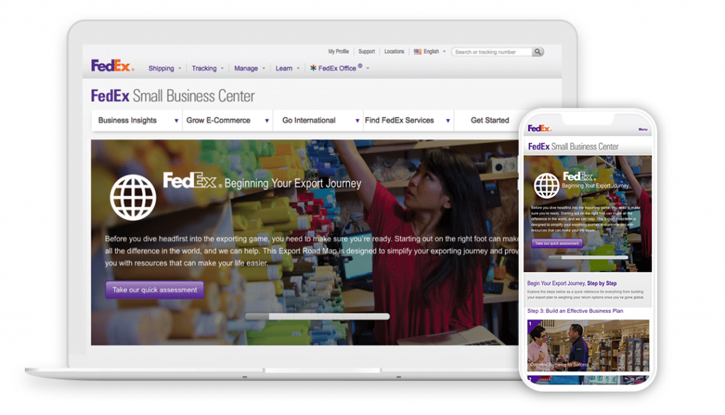 fedex adopted interactive content