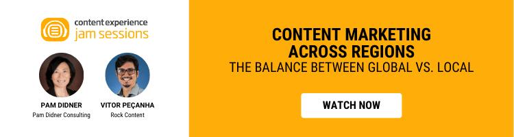 Content Marketing Across Regions — the balance between global vs. local