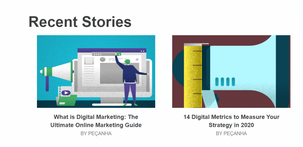content marketing strategy represented in a blog post
